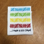 100 Days of School - Embroidered