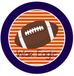 Auburn Striped Football