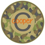 Camoflauge Round Patch
