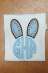 Easter Bunny Initial Applique