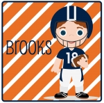 Football Stripe Boy - Auburn