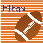 Football Stripe Square - Orange