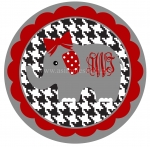 Houndstooth Elephant Circle