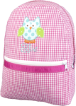 Hot Pink Gingham Backpack