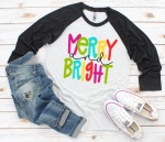 Merry and Bright Dot Raglan