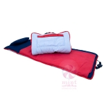 Navy Red Seersucker Nap Mat