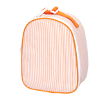 Orange Seersucker Lunchbox